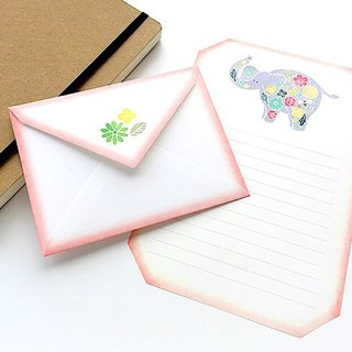 Letter writing set/stitch zoo/Elephant