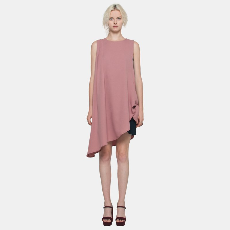 Side Tie Dress (Blush)