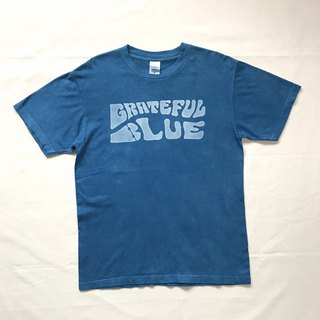 Indigo dyed indigo - GRATEFUL BLUE TEE