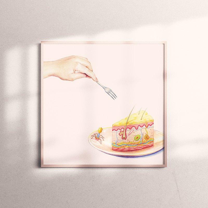 複製畫-Skin Cake | 皮膚蛋糕