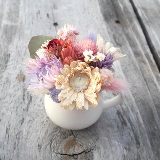 With real flowers||Dream fruit small milk pot dry flower pot flower hand made wedding small things Christmas gift