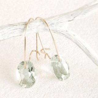 14KGF Brilliant Greenamethyst Earrings