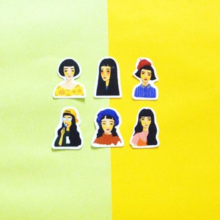 [Black hair girl group] fog stickers / girls / hand account is a good helper