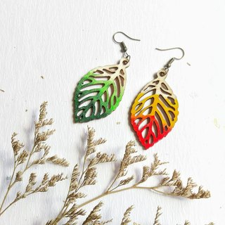 Season double-sided painted hand-painted acrylic earrings can change ear clip
