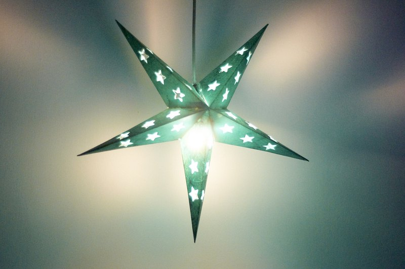 Christmas gifts handmade handmade paper stars stars / stars mang lights / star light / origami lights / night lights - moonlight under the green star stars stars stars Galaxy (small)