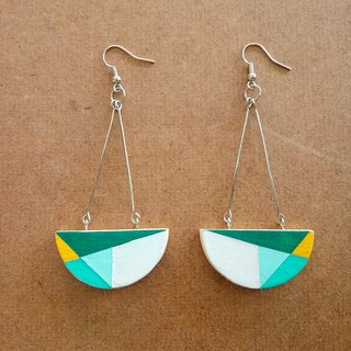 Wooden Earrings No.39