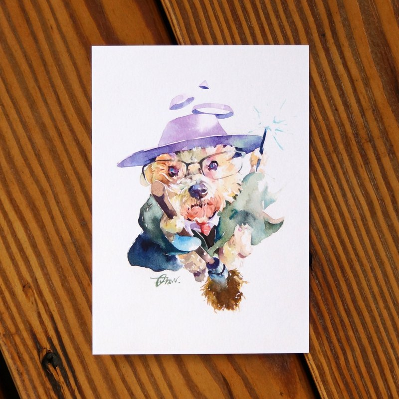 Watercolor Painted Baby Series Postcard - Amusement