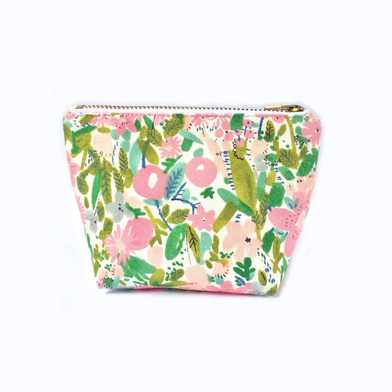 小钱包 Cute Coin Purse, Small Zipper Pouch, Pink Meadow