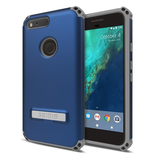 Military-grade four-corner crash protection shell / mobile phone case for Pixel XL-dark blue-DILEX ™ series