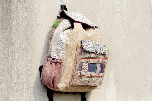 After limited hand-stitching design backpack / shoulder bag / mountaineering bags - Desert Road Trip Patchwork package (Limited a)