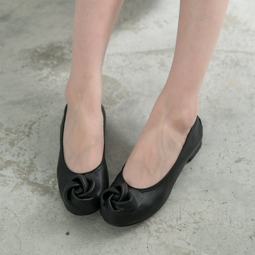 Maffeo doll shoes ballet shoes Japanese rose leather doll dolls (1234 black)