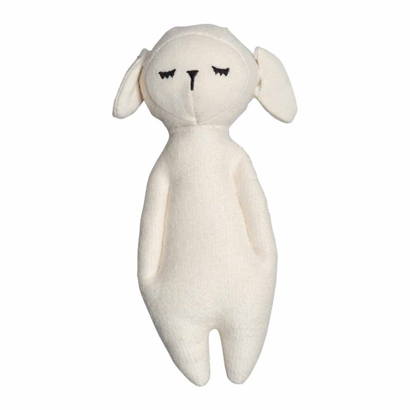 Small cotton sheep hug rattle SOFT RATTLE - SHEEP