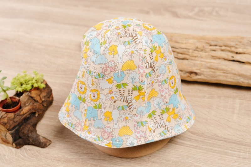 Double-sided fisherman hat - animal forest children's clothing newborn infant newborn child parenting