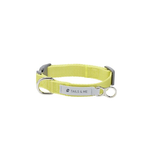 [Tail and me] classic nylon belt collar yellow yellow S