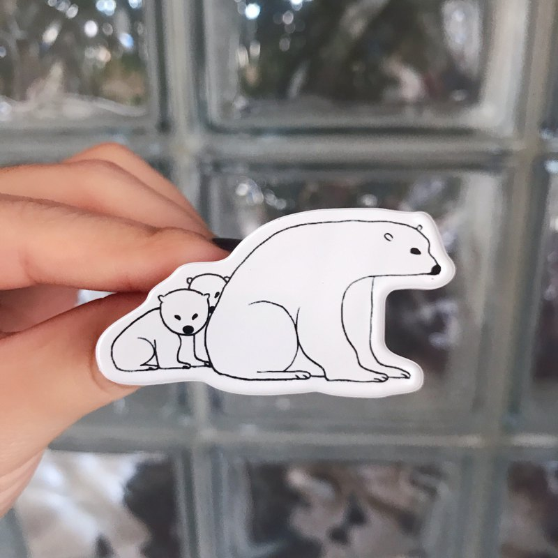 Acrylic Brooch Polar Bear Original Design Brooch / Gift / Original Design