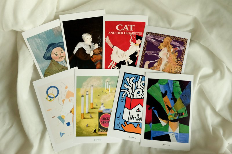 History of Art & Cigarette Postcard Set