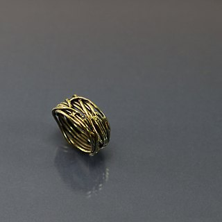 Openwork brass ring