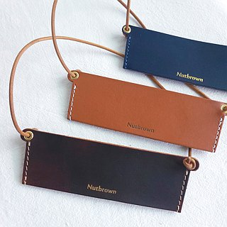 Handmade Leather - Eco-Friendly Drink Bag Holder/Engraved English Name