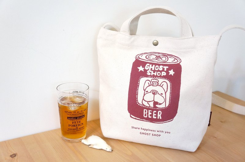 ((hot replenishment to)) Reissue version of the law canvas bag - medium / dual / Fubao beer