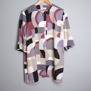 FOAK vintage Pupu geometric color blouse jacket