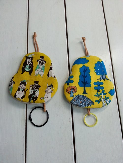 Yellow pear-shaped key fob system [K170110]