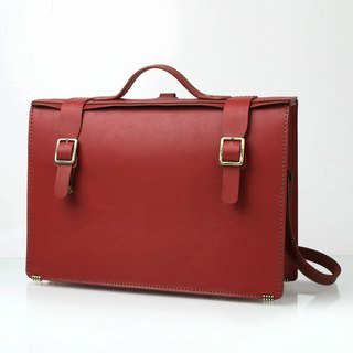 JIMMY RACING Manton • Business Elite Hand Straight Back Briefcase - Red 0502129