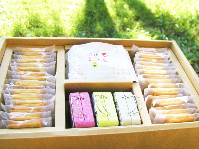 Gift box milk sugar biscuit + suitcase milk sugar + dried fruit freeze-dried