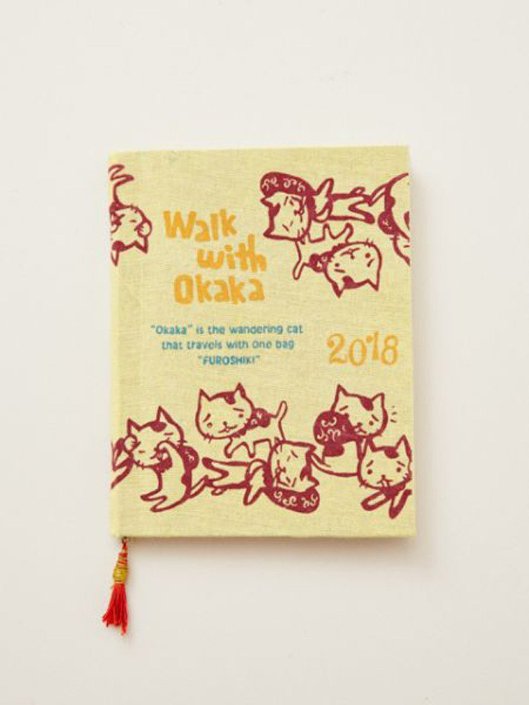 2018 hand-painted okaka cat calendar notebook shape