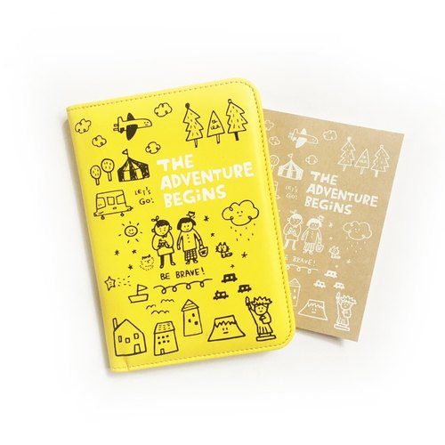 The Adventure Begins series passport clip _ lime yellow