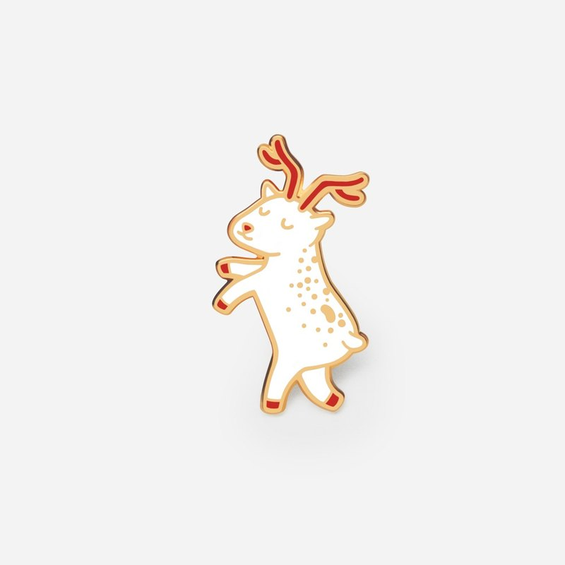 Floating Reindeer enamel pin