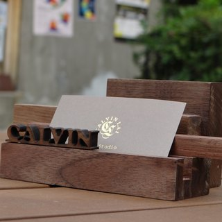 """CL Studio"" [modern simple - geometric style wooden mobile phone holder / business card holder] N69"