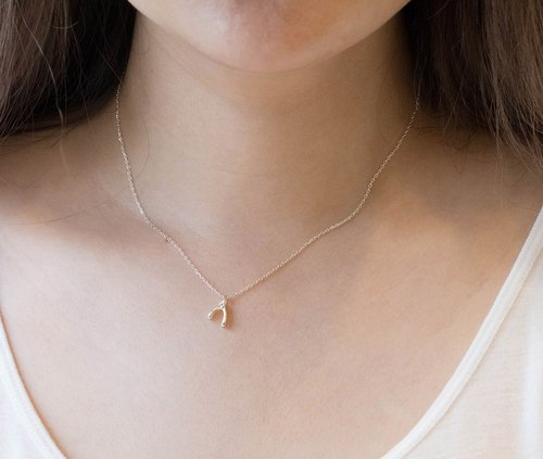 Wish bone 925 sterling silver necklace Valentine's Day Tanabata gift is not allergic to simple