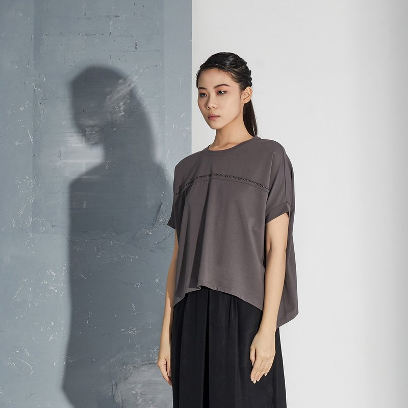 【In stock】Grey silhouetted top