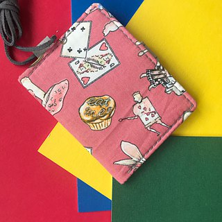 Washable Craft Paper . Fabric /Pink/ Alice/ cardholder