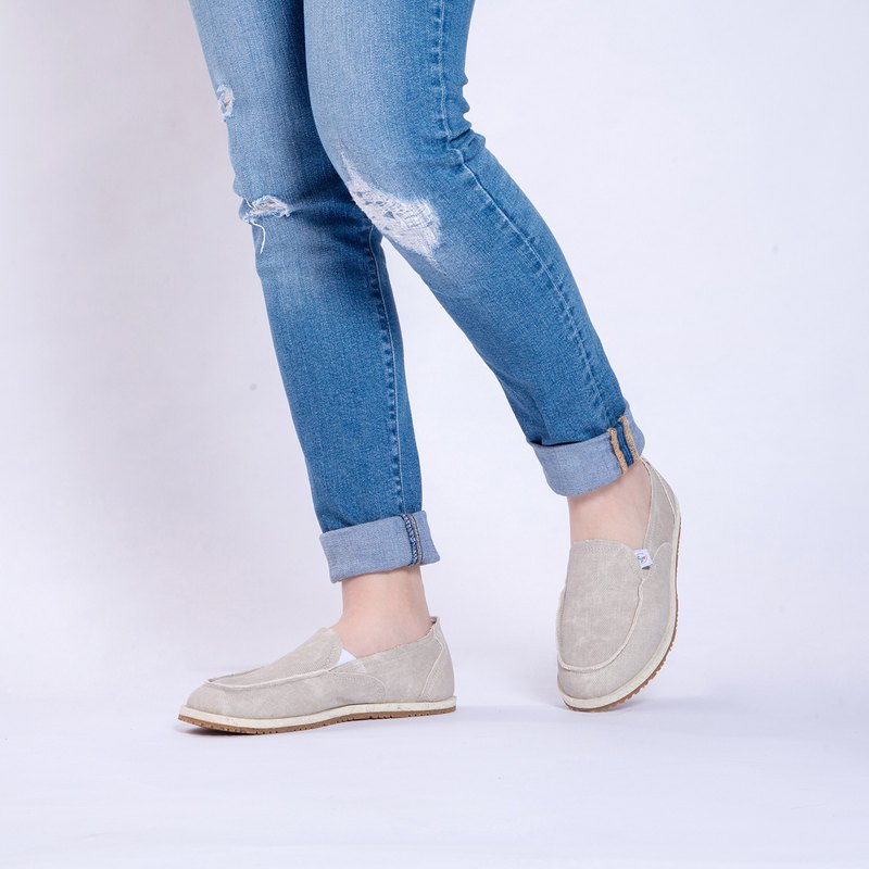 Casual shoes Nantes series denim lazy shoes apricot beige girls