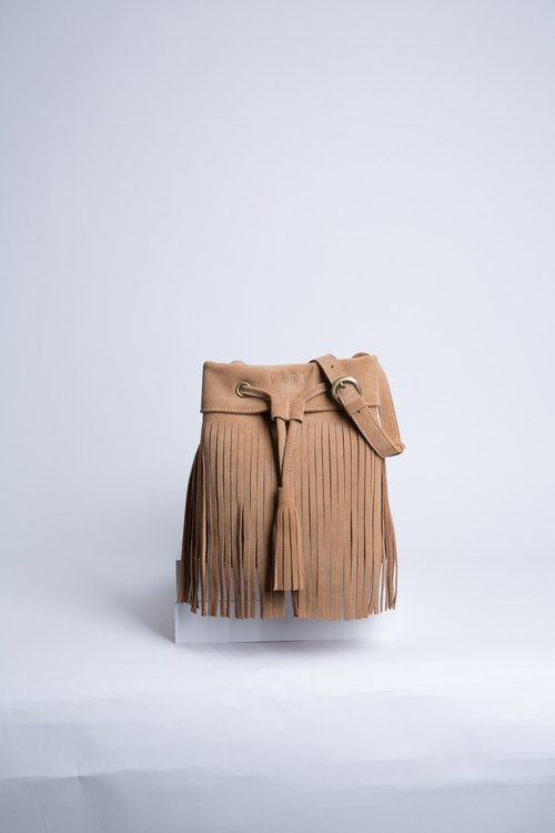 Leather Fringe bag ( Brown) : The Undressed