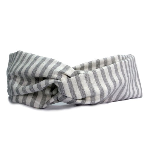 Simple striped cotton and linen | hair band