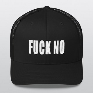 Trucker Cap, Hipster, Hipster Cap, Photo Booth, Fuck No, Baseball Cap, Unisex Cap, Gift for Him, Gift for Her, Trucker Hat, Christmas Gift