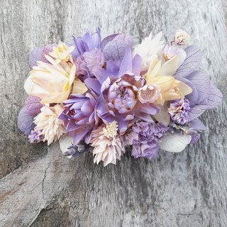 And real flowers || lavender dry hair hair clip hair ornaments outside the clap hand