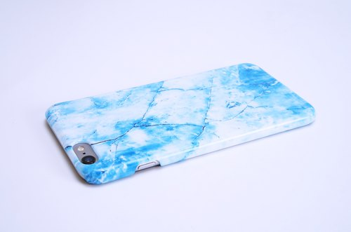 "Polar Marble 【Ice Crystal Blue】 iPhone 6 Plus / 6S Plus (5.5 "") Phone Case / Case / Phone Hard Case / Case / Case"