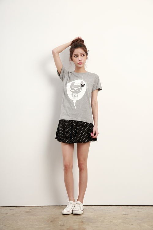 LAZYMARU-LM000724-take me to travel short-sleeved T-shirt (gray) law couple installed Taiwan culture
