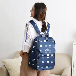 ROMI [keep the package] - four leaf blue / mom bag / backpack / parent-child package