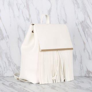 White Color High Quality Synthetic Leather Women Backpack