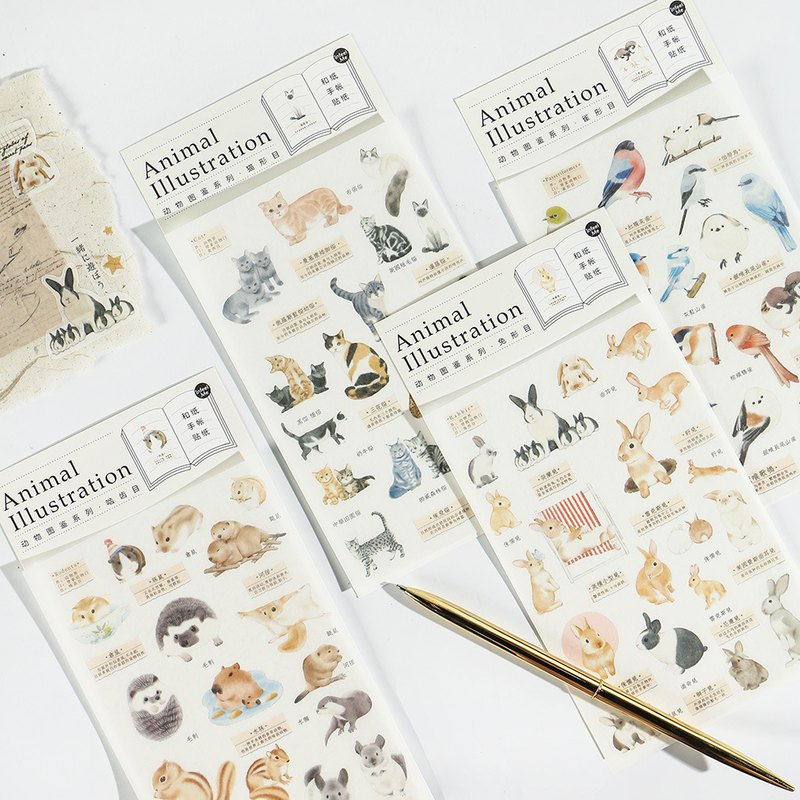 Infeel.Me warm air and paper stickers [animal illustration manual series] PDA sticker
