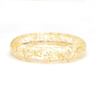 FlowerSays / Baby's Breath Real Flower Bracelet / Yellow Collection /