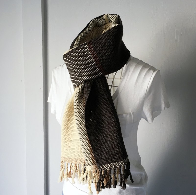 "Unisex Scarf ""Deep Brown Mix 2"""