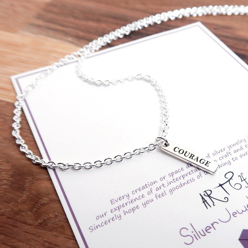 MEMO necklace classic circle-925 sterling silver custom lettering necklace