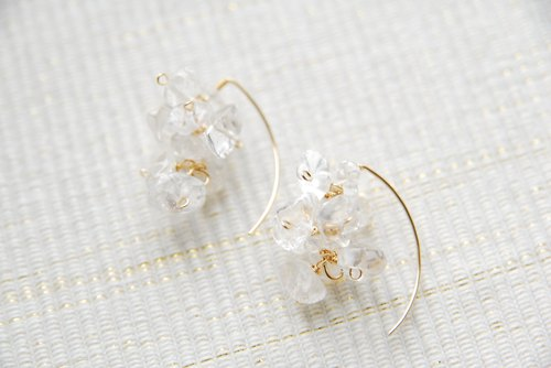 Crystal Marquis Hook Earrings (14 kgf)