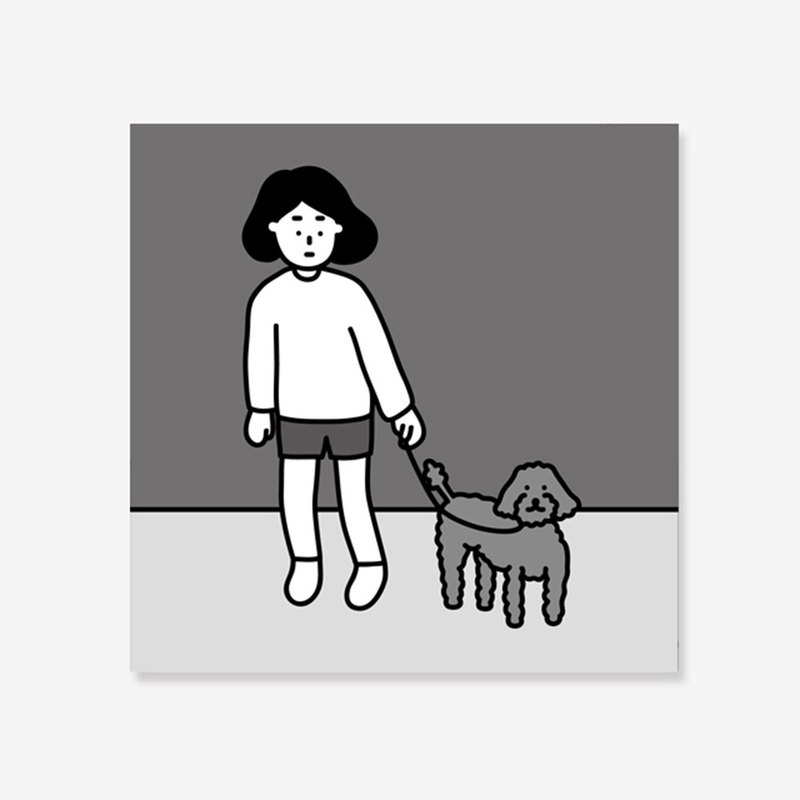 art print | walking with dogs