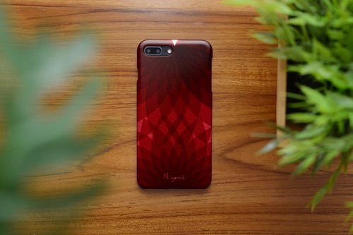iphone case Red leaf pattern for iphone5s, 6s, 6s plus, 7, 7+, 8, 8+, iphone x